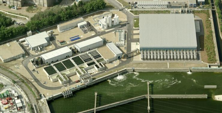 Filtralite® Pure pressure filters at Beckton (UK) for pretreatment prior to desalination